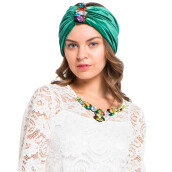 LUIRE Turban Glitter Green [One Size]