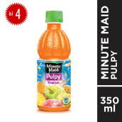 MINUTE MAID Pulpy Tropical PET Botol 350mlx4pcs