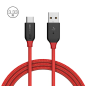 BlitzWolf® BW-TC3 3A USB Type-C Braided Charging Data Cable 8.2ft/2.5m for OPPO SAMSUNG SONY Universal