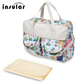Multifunctional Zipper Clossure Handbag Mummy Diaper Bag(Animals Pattern 39*12.5*33)
