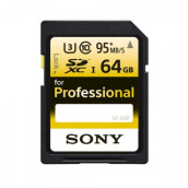 Sony SF-P SDXC 64GB Class 10 Professional 95MB/s Yellow Black