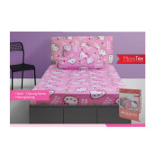 PILLOW PEOPLE Sprei Set Hello Kitty - Hk Kepala Cherry