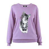 MARKUS LUPFER Kitten Sequin Nat Jumper - Purple