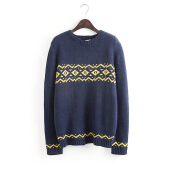Women's Cute Blue Sweater