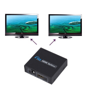 [Kingstore]HDCP 1080P 1 in 2 Out HDMI Splitter Amplifier Dual Display For HDTV DVD PS3