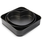 3 Set Springform Pans Cake Bakeware Mould Kitchen Accessories