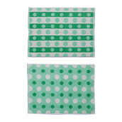 TERRY PALMER Gramadi Towel Mat Set of 2 880g - Green LP9057RX-NGN-88NN-NGN