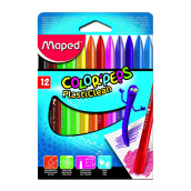 MAPED Plastic Crayon x12 in Cardboard