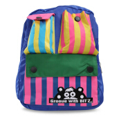 Cute Color Block Pocket School Bag Mini Backpack for Child