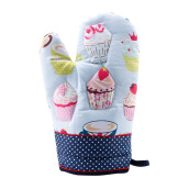ARNOLD CARDEN Oven Mitts Cup Cake Right Side -  Dark Blue 17x25cm