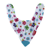 NUBY Bandana Bib With Teether - Turquoise Butterfly
