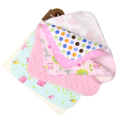 10pcs Baby Bibs Towel Super Soft Skin Care Cotton Bath Towel Saliva Towel For Girls (Patterns Are Randomized)