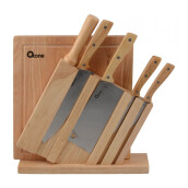 OXONE 7 pcs Wooden Knife Set Wood - (OX-95)