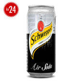 SCHWEPPES Soda Water Can 330ml x 24pcs