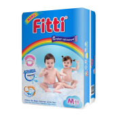 FITTI Popok Tape Rainbow Jumbo Pack M48 [Karton Isi 4]