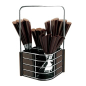 NAKAMI Stainless Steel Cutlery 25pcs - Brown