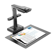 CZUR ET16 Plus Book and Document Smart Scanner with Hand & Foot Pedal Black