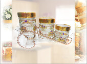 VICENZA Candy Jar Lily 7Pcs GB3