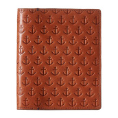 FOSSIL Gift Leather Passport Case Saddle Mens [MLG0380-216]