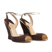 PAUL ANDREW Delphi Suede Wedges  - Brown