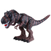 Halloween Realistic Electric Animal Model Tyrannosaur Battery Operated Assemble Dinosaur Toy Gift for Kids
