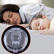 Stop Snoring Anti Snore Nose Clip Apnea Guard Care Tray Sleeping Aid