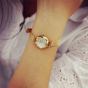 BESSKY Women Quartz Analog Wrist Watch Watches- Gold