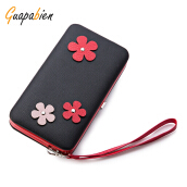 Guapabien Cute Flower Appliques Women Clutch Wallet