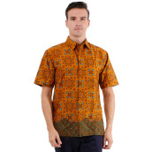 DANAR HADI Mens Short Sleeve Batik CBRL2 - Brown