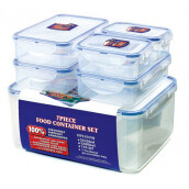 LOCK & LOCK Plastic Container 6P Set W/ Color Box (HPL836SB)