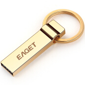 EAGET U90 USB 3.0 16GB Official Licensed Flash Drive  Pendrive Key Ring Memory Golden Stick