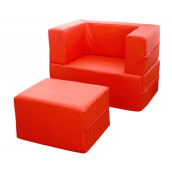 FOLDAWAY Arm Chair Red