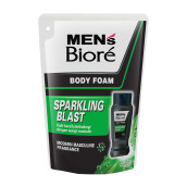 MEN'S BIORE Body Foam Sparkling Blast Pouch 450 ml