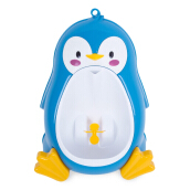 Separable Suspensible Lovely Penguin Shape Boys Standing Urinal (Blue)