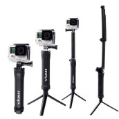 VIVAN VGO-01 Monopod Stand Tripod For Sports Camera - Black - Garansi Resmi 1 Tahun Black