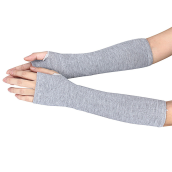 BESSKY Winter Wrist Arm Hand Warmer Knitted Long Fingerless Gloves Mitten-