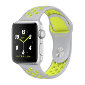 APPLE Watch Series 2 Nike+ MNYP2 38mm Silver Aluminum Case with Flat Silver/Volt Nike Sport Band
