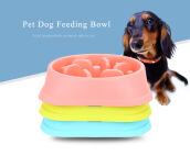 Pet Dog Slow Feeder Anti-choking Feeding Bowl