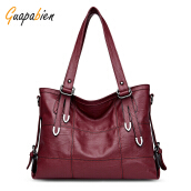 Guapabien Women PU Leather Shoulder Tote Bag Handbag