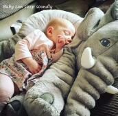 Comfort Soft Plush Toys Elephant Pillow(Gray)
