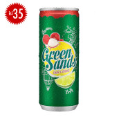 GREEN SANDS Lychee Lime Can Carton 250ml x 35pcs