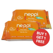 NEPPI Baby Wipes With Aloe Vera Non Parfum 50s  Buy 1 Get 1