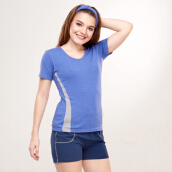 LEE VIERRA Qilz Blue Loose Tee