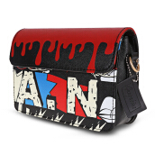 Guapabien Women Graffiti Clutch Crossbody Shoulder Bag