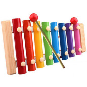 BESSKY Baby Kid Musical Toys Xylophone Wisdom Development Wooden Instrument - Multicolor