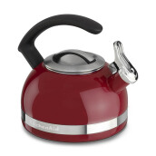 KITCHENAID Porcelain Enamel Kettles - KTEN20CBER/Empire Red, C Handle with Trim Band