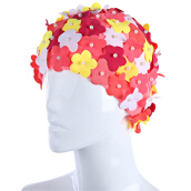 Handmade Three-dimensional Petal Women Fashion Ear Cover Swimming Cap
