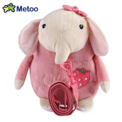 METOO Animal Design Boys Girls 3D Cute School Anti-lost Kids Kindergarten Bag PINK ELEPHANT 24 X 6 X 30CM
