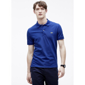 LACOSTE Men's Classic Fit Polo in Petit Pique - Ocean