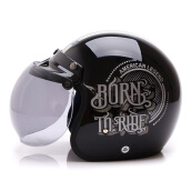 WTO Helmet Retro Born To Ride - Black
